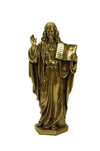 Figura Decorativa Religiosa 'Sagrado Corazón Antiguo Testamento' Esculturas Resina. 7 x 5 x 16 cm.