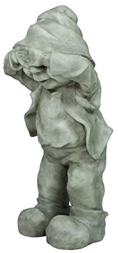 Dekofigur Wichtel Gnom Granit look Gartenfigur 32 cm Gartenzwerg Gartendekoration - 4