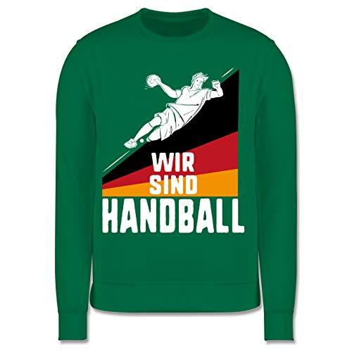 Shirtracer Handball WM 2019 Kinder - Wir sind Handball! Deutschland - 5-6 Jahre (116) - Grün - JH030K - Kinder Pullover