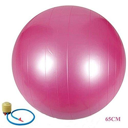 65cm PVC Yoga pelota engrosamiento Fitball ejercicio más insípido Explosion Bosu–Bola de gimnasia (con bomba de accesorios, rojo, 65 cm