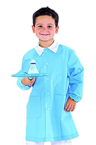 Grembiule pollicino isacco per asilo e scuola materna 3-6 anni (4 anni, azzurro)