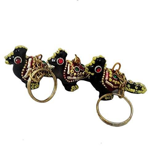 goccia borsa alla moda lac perline portachiavi Jodhpuri uccello antico featured set di 3 pezzi fatti a mano portachiavi regalo di