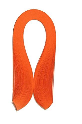 Quilling Papierstreifen breit 5mm /420mm lang, 125 g/qm, 125 Stück, Farbe orange (- Orange-streifen Leichte)