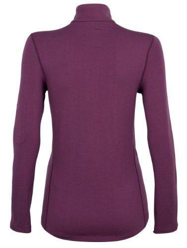 Super natural T-shirt fonctionnel à manches longues, col haut et zip 1/4 pour femme Raisin