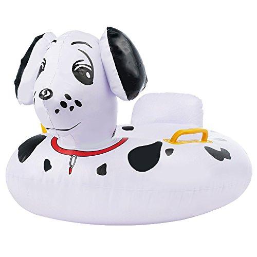 Bramble! piccolo salvagente ciambella gonfiabile a forma di cane - accessorio ideale per spassarsela in acqua - per neonati e bambini piccoli