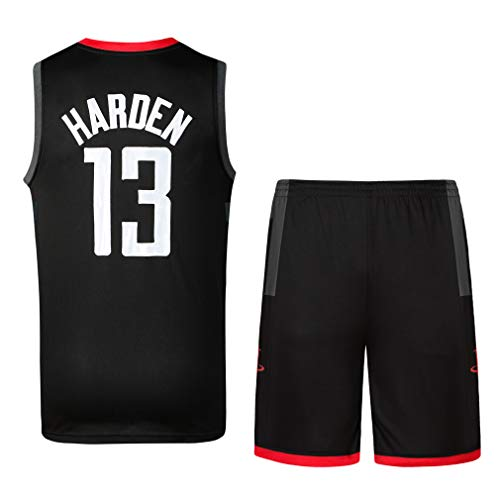 3407525ffbeff Chico Hombre Camisetas de Baloncesto y Pantalones Cortos James Harden No.13  Chris Paul No.3 Verano Basketball Jersey Sin Mangas Camisetas (S, ...