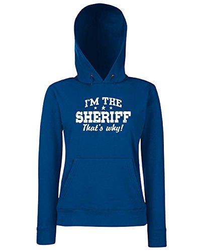 T-Shirtshock - Sweats a capuche Femme OLDENG00358 sheriff Bleu Navy