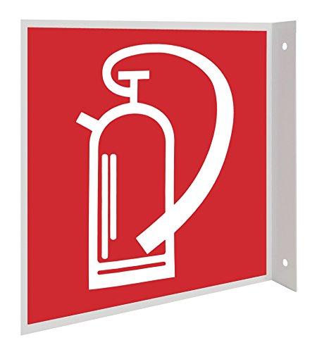 Feuerlöscher Symbol Fahnenschild Hinweisschild Brandschutzzeichen DIN Kunststoffplatte 200x200mm