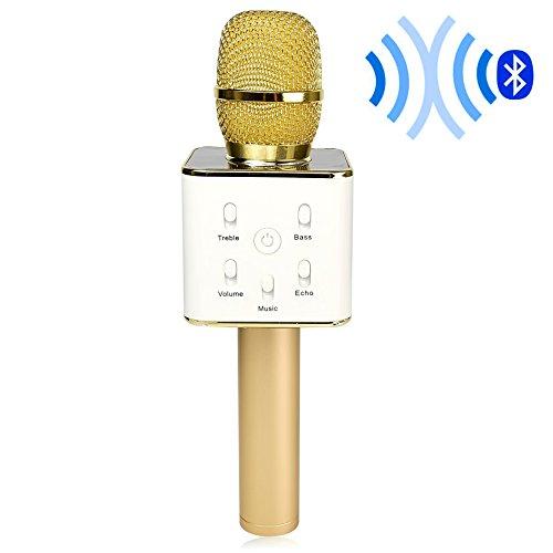 DIGITNOW! Bluetooth Karaoke Mikrofon Kabelloses Mini Handheld Karaoke Mikrofon mit Stereo-Lautsprecher für IOS/Android Smartphone