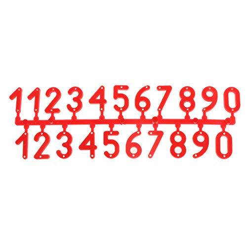 zijianZZJ 1 Set Bienenenstock Zahlen rot Identifikation Bienenenbox Signalrahmen Bienenenzucht Markennummern Digital Karte Kunststoff Board Equipment -