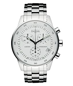Davosa Men's Vireo Analogue Watch 16346425 with White Dial and  41 mm Stainless Steel Case