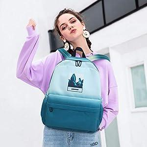41xcDaPOaaL. SS300  - FANDARE Nuevo Mochila Color Gradual Mochilas Casual Bolsas Escolares Niña Niño Bolsa de Viaje Bolsos de Mujer…