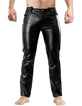 Lederjeans Lederhose Lederröhre Tight Leather Jeans Bockle® 1991 Röhre