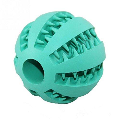 Pet Dogs Toy Ball, Stillshine - Nature Rubber Non-toxique caoutchouc Jouet pour chien Balle rebondissante pour la mastication/formation/Jouer, Dog Pet Chew Cleaning Ball Pet Exercise Game (Bleu)