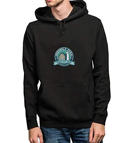 ead Hershels Zombie Farm Logo_R5004 Hoodie Kapuzenpullover Jumper Sweater Pullover Sweatshirt Unisex Black Gift- S Black Hoodie ()