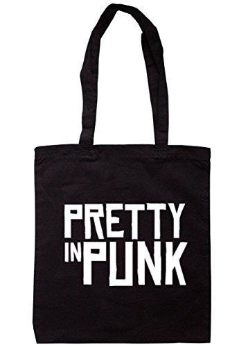 Breadandbutterthreads Pretty in punk borsa 37.5cm x 42cm con manici lunghi Black