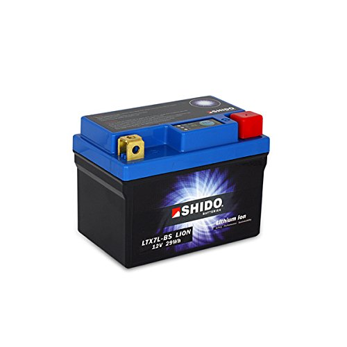 SHIDO LTX7L-BS LION -S- Batterie Moto Lithium Ion