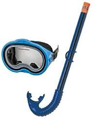 Intex Set masque + tuba de plongée pour enfant Bleu Plongée Masque lunettes de natation