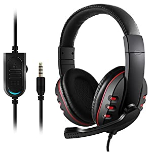 Etpark Gaming Headset mit Mikrofon, 3.5mm Surround Sound Over-Ear-Kopfhörer für PS4 Xbox One PC Laptop Tablet Mobile…