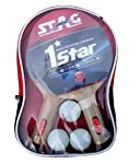 Stag 1 Star Table Tennis Play Set (2 Bats and 3 Balls)