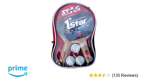 260b2fb75c Buy Stag 1 Star Table Tennis Play Set (2 Bats and 3 Balls) Online at Low  Prices in India - Amazon.in