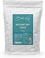 BAKE KING Instant Dry Yeast Powder 100G for Pizza Base & Ba