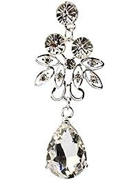 9fd47d3157c8 Pendientes Collar Joyas Dos Piezas Aleación Rhinestone Collar de Perlas  Pendientes Colgantes Conjunto Regalo de joyería