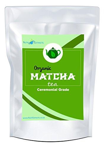 Matcha Tè Verde in Polvere di Grado Cerimoniale 100g - per frullati, tè, miscele, cottura al forno, antiossidanti, perdita di peso, Purificante, di NutriExtracts