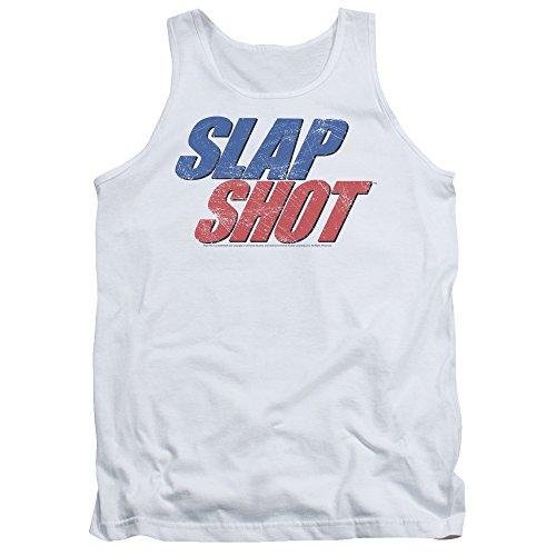 Slap Shot - Herren-Blue & Red Logo Tank Top White