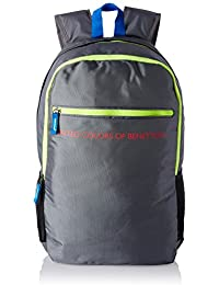 United Colors of Benetton 21 Ltrs Grey Casual Backpack (16A6BAGT7004I)