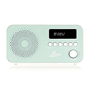 Lava DAB Radio with DAB & DAB+ Digital Radio and FM with Auto-Scan, LCD Screen and Mains/Battery Power – Blue