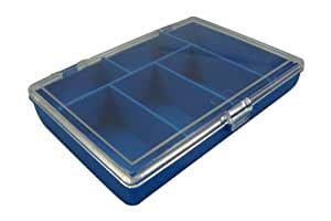 6 Compartment Storage Box, With Clear Lid