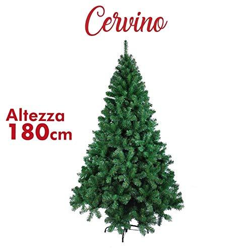 Bricozone Cervino Albero di Natale Artificiale Realistico, Altezza 180 cm, Albero 650...