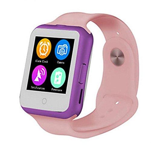 PDFGO D3 Smart Watch Bluetooth Cardia Con Frequenza Cardiaca MTK6261 Termometro Sistema Operativo Supportato: Android IOS,Blushing Pink