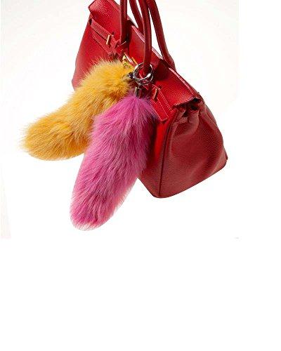 modassori-artikelname-mila-taschenanhanger-echtfell-fuchsschwanz-pink-haltering-chrom-35-bis-40cm