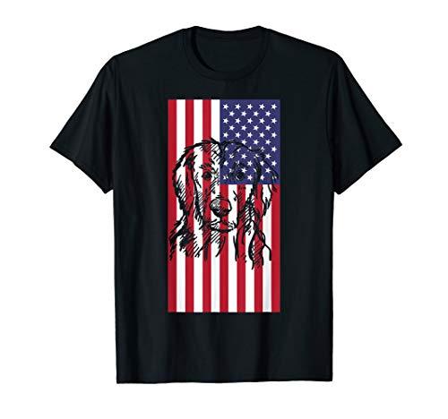 Flat-Coated Retriever American flag Tee T Shirt Tshirt T-Shirt -