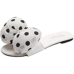 HCFKJ 2017 Mode Frauen Welle Bug Schuhe GüRtel Pullover Sandalen Sommer Damen Sandals (35, Weiß)