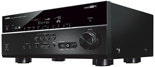 Yamaha  RX-V677 WiFi Netzwerk AV-Receiver mit 4K Upscaling, Spotify, Juke und AirPlay, Schwarz