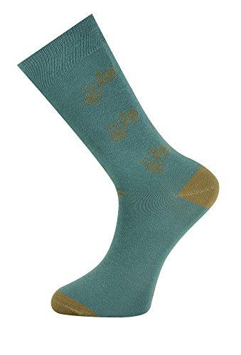 MySocks Knöchelsocken Dickes Thin Sripe Mint Brown Red Dot Gelb (Socken Dicke Streifen)
