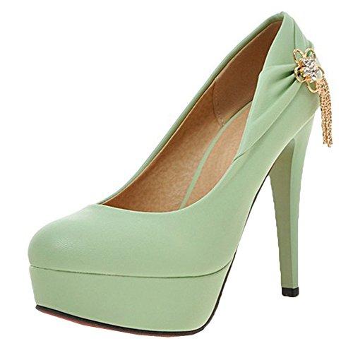 Scothen Heels Ladies cheville Strap Plateau Pompes fermé talon en daim arc chaussures de soirée élégante Femmes Mode Stiletto Sexy Heels Platform Pumps mariée Pompes de plate Chaussures Vert