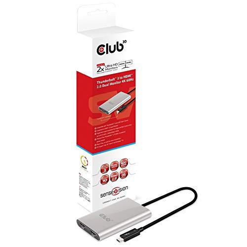Club3D CSV-1574 Sensevision ThunderboltTM 3 auf Dual HDMITM 2.0, 4K@60Hz aktiv