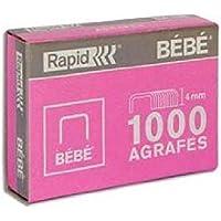 Rapid Agrafes BÉBÉ, Longueur 4 mm, 5000 agrafes, Agrafe jusqu'à 15 feuilles, Fil robuste cuivré, 11974602