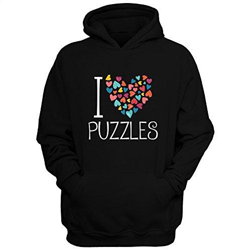 Idakoos love Puzzles colorful hearts - Ocio - Sudadera con capucha