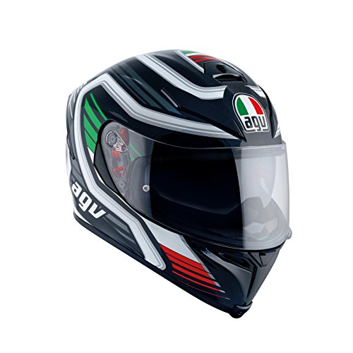 AGV Casco Moto K-5 S E2205 Multi PLK, Firerace Black/Italy, MS