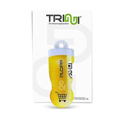TRIGGI® der Einkaufswagenlöser - Einkaufswagenchip zum Abziehen Plopp mit Flaschenöffner