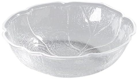Carlisle LB1207 Clear 3-qt. Leaf Bowl, Acrylic (Case of 4) by Carlisle