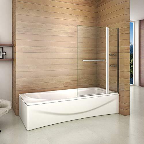 41xcPKqsLBL - Bañera 2 piezas Mampara pantalla de ducha plegable vuelta 180 ° 100x140cm