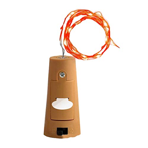 DIY Lichtleiste,Xmansky 1 Stücke Cork Shaped LED Nachtlicht Sternenlicht Weinflasche Lampe,Geeignet für Hochzeit, Halloween-Dekorationen,Platz, Innendekoration, Außendekoration, Geburtstag, Bar