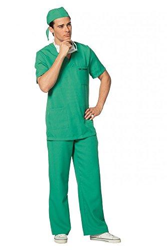 Room Emergency Kostüm - shoperama Hochwertiges Herren-Kostüm Chirurg - Dr. Driemie - Arzt Doc Doktor 4-teilig, Größe:54