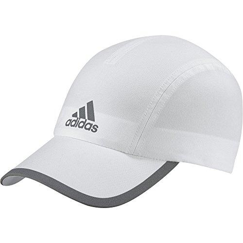 adidas Herren Run Climalite Kappe, White/White/Reflective Silver, OSFM (Running-cap Adidas)